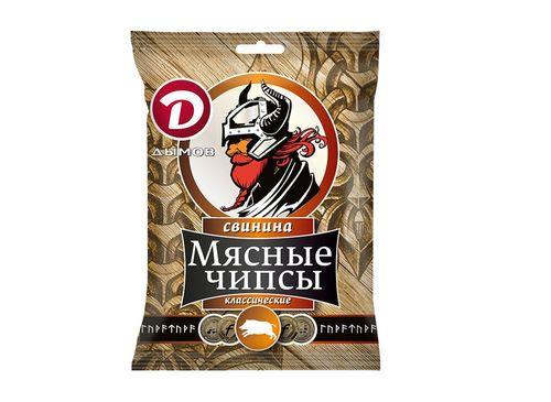 Мясная закуска чипсы классические из свинины Дымов