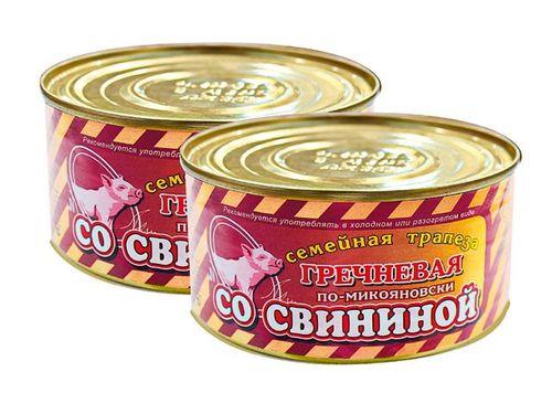 Каша Семейная трапеза гречка со свининой по-микояновски