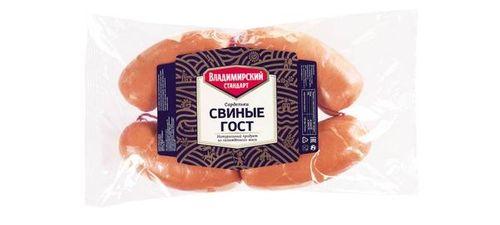 Сардельки Свиные ГОСТ Владимирский стандарт