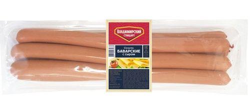 Сосиски Баварские с сыром Владимирский стандарт