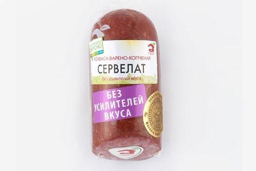 Колбаса варено-копченая Сервелат в/у МДБ