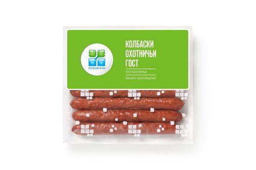 Охотничьи колбаски ГОСТ в съедобной оболочке Окраина