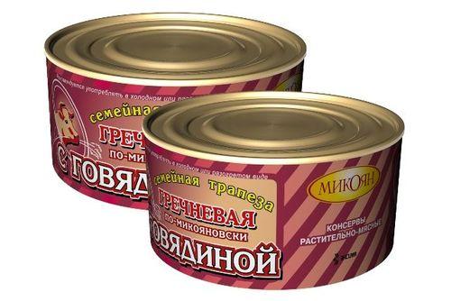 Каша Семейная трапеза гречка с говядиной по-микояновски