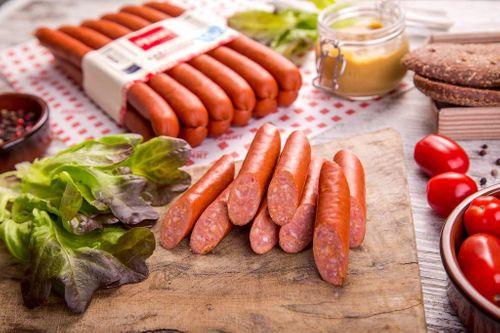 Колбаски полукопченые Кабаносси в натуральной оболочке Ремит