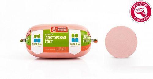 Колбаса вареная Докторская ГОСТ в полиамиде Окраина