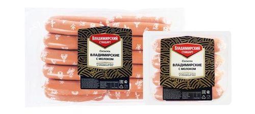 Сосиски Владимирские с молоком Владимирский стандарт