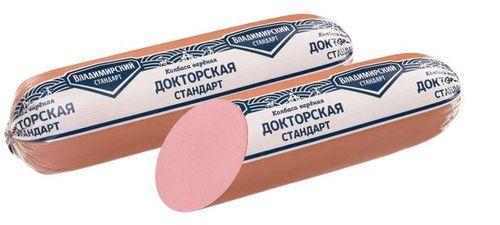 Колбаса вареная Докторская Стандарт ц/ф Владимирский стандарт