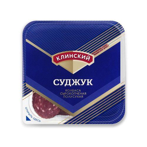 Колбаса сырокопченая Суджук ГОСТ в нарезке Клинский