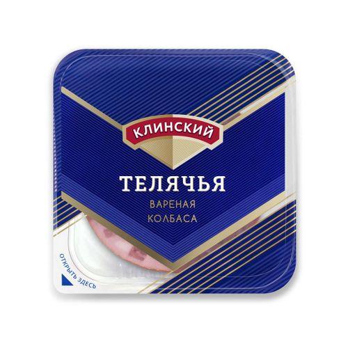 Колбаса вареная Телячья ГОСТ в нарезке Клинский
