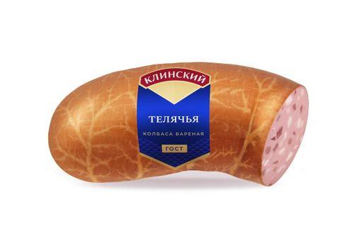 Колбаса вареная Телячья ГОСТ в синюге Клинский